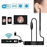 Ear Cleaning Endoscope WiFi YINAMA Ear Otoscope Borescope Inspection Camera HD Ear Cleaning Endoscope 5.5MM Lens Wireless Otoscope Digital Ear Scope Camera Android iOS Smartphones Windows MAC