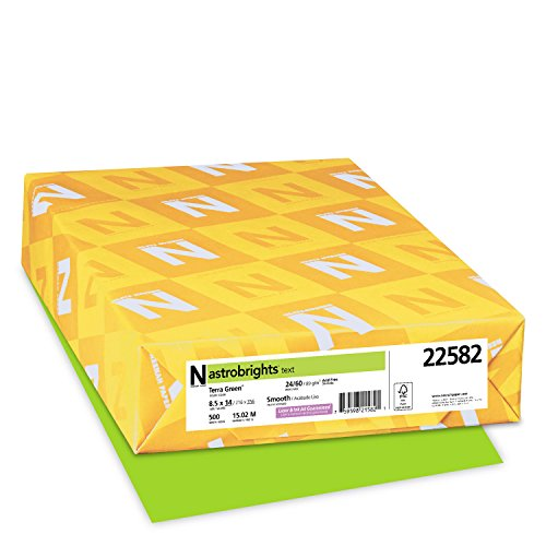 "Astrobrights Color Paper, 8.5"" x 14"", 24 lb / 89 gsm, Terra Green, 500 Sheets"
