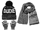 Polar Wear Boys Knit Hat, Scarf And Gloves Set With