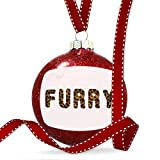 Christmas Decoration Furry Cheetah Cat Animal Print Ornament