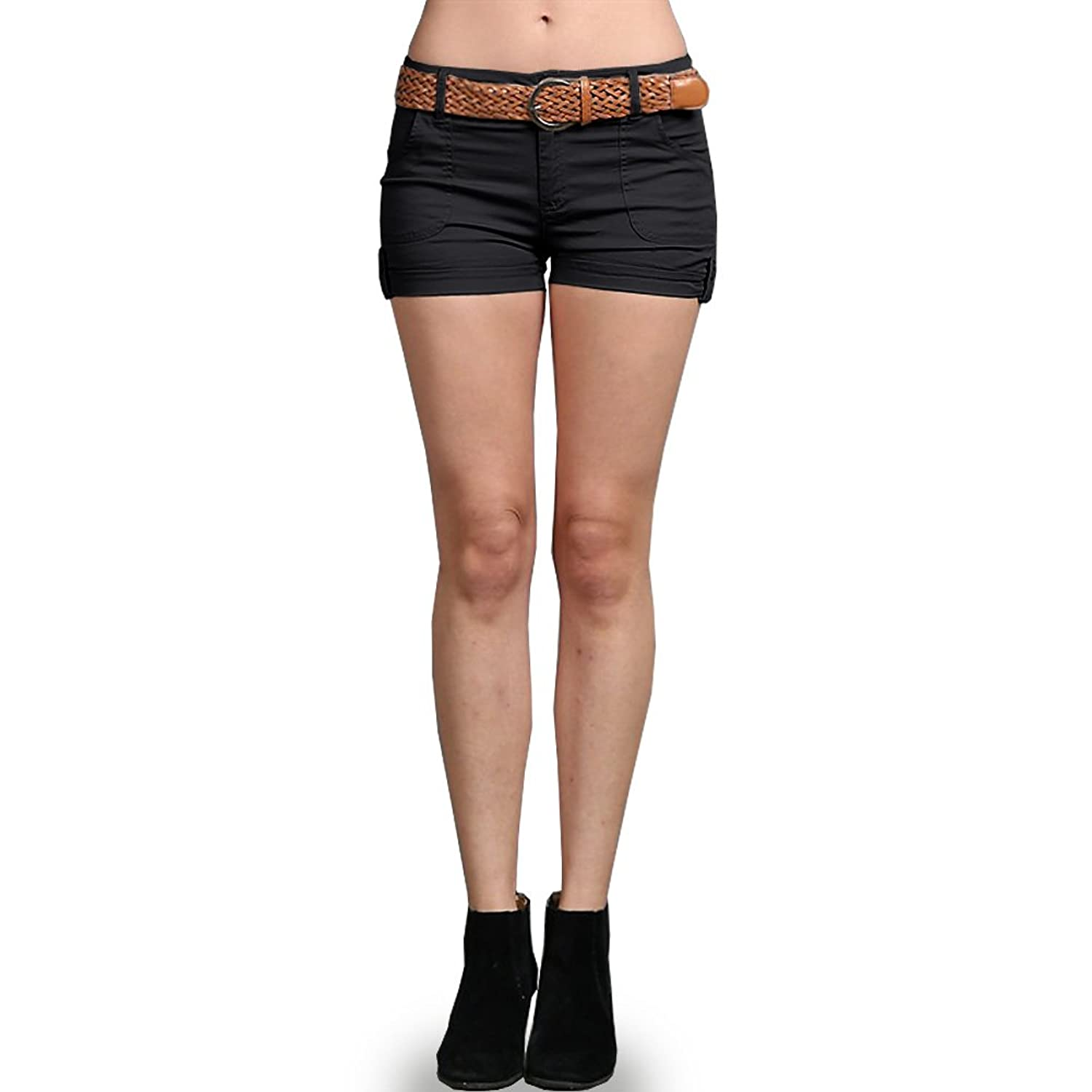 b1bcafb7c2f7 New Fashion Women s Cotton Twill Sexy Hot Casual Shorts with Wide Belt  Pants delicate