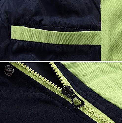 HaiDean Los Invierno De Abrigo Hombres Dunkel con Modernas Ocio Cortavientos Chaqueta Abrigos Chaqueta Abrigo Capucha Casual Abrigo Blau Trench tq1xwvIrtE