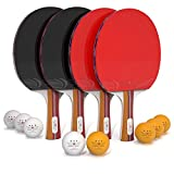 Kyпить Ping Pong Paddle Set (4-Player Bundle) 4 Ping Pong Paddles, 8 ABS Tournament Level Balls   Convenient Storage Bag   Full Table Tennis Set   Advanced Speed, Control, Spin   Indoor & Outdoor Play на Amazon.com