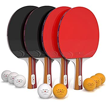 Ping Pong Paddle Set (4-Player Bundle) 4 Ping Pong Paddles 8 ABS Tournament Level Balls   Convenient Storage Bag   Full Table Tennis Set   Advanced Speed ...  sc 1 st  Amazon.com & Amazon.com : STIGA Retractable Anywhere Table Tennis Set : Table ...