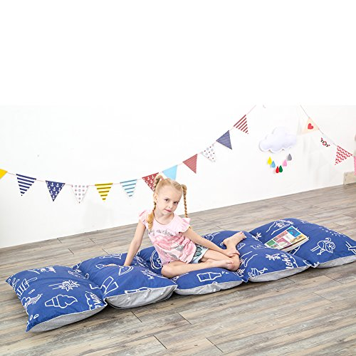 MHJY Floor Lounger Cushion Cover Patterned Pillow Case for Kids Adults Fold Out Lounger Fabric Pillow Cover for Bed Indoor Outdoor Activities (NO insert)