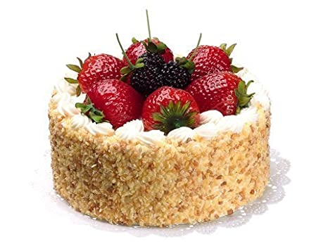 Amazon Com Fake Food Cake W Strawberry Raspberrykitchen Cake