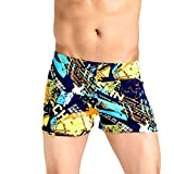 NUWFOR Men's Shorts Swim Trunks Quick Dry Beach SurfingPrintRunning Swimming Watershort(Multicolor,XXL Waist:30.7'')