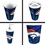 The Northwest Company Denver Broncos NFL 4 Piece Bathroom Decorative Set (Scatter Series)