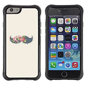 LASTONE PHONE CASE / Suave Silicona Caso Carcasa de Caucho Funda para Apple Iphone 6 PLUS 5.5 / moustache grey hipster beige minimalist