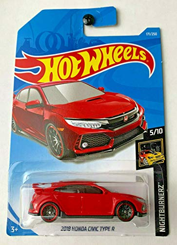 Hot Wheels 2019 Nightburnerz: 2018 Honda Civic Type R [Red] - International -