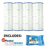 Pleatco Cartridge Filter PA81-PAK4 Pack of 4 Hayward C3025 CX580XRE w/ 1x Filter Wash