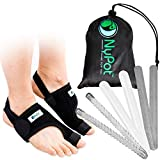 NYPOT Bunion Corrector and Bunion Relief - Big Toe Support, Orthopedic Bunion Splint and Sleeve, Toe Straightener for Women,Bunion Protector, Hallux Valgus corrector, Day/Night Bunions Pain Relief