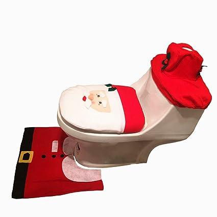 favomode Navidad Festival Decoración de Casa asistente Elk muñeco de nieve 3 piezas Juego de toallas