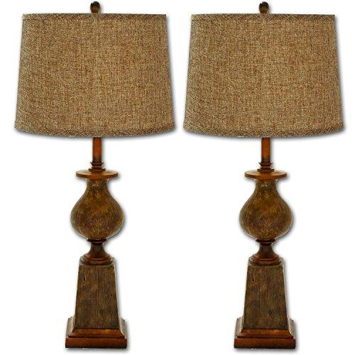 Urban Designs Heraldo Polystone Rustic Table Lamp (Set of 2) (Polystone Table)