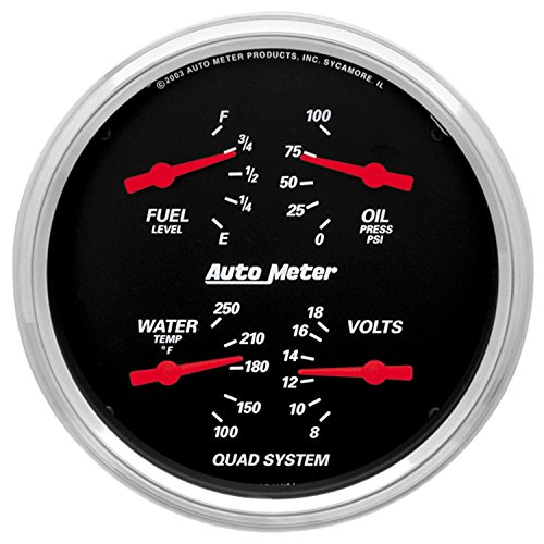 - Auto Meter 1410 Designer Black Quad Gauge