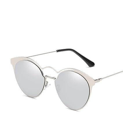 BiuTeFang Gafas de Sol Mujer Hombre Polarizadas Señora Hombre Personalidad Tendencia Color Brillante Gafas Metal Gafas