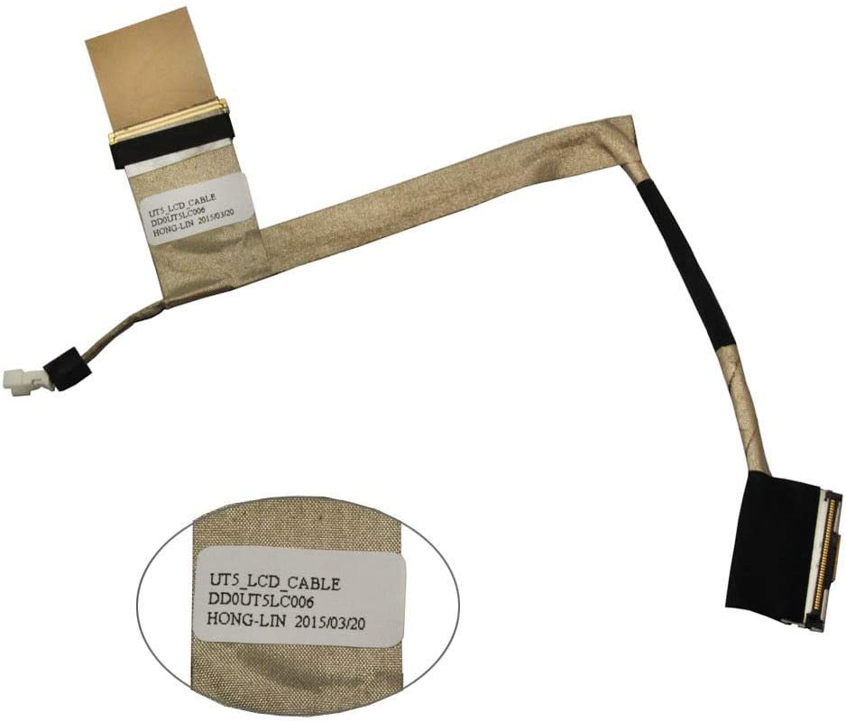 CAQL LCD LED Screen Video Flex Cable for HP Pavilion DV7-2000 DV7-2301NR DV7-2185dx DV7-2040US DV7-2111US DV7-2170US DV7-2180US DV7-2270US DV7-2043CL DV7-2173CL DV7-2177CL DV7-2273CL DV7-2277CL
