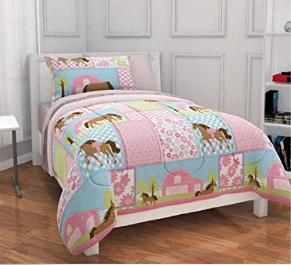 Great Girls, Pony, Country Horse Full Comforter, Sheets U0026 Shams Set (7 Piece