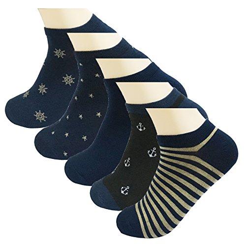 ファンブル不利ズーム5パックメンズローカットアスレチックソックスCotton No ShowカジュアルシンLiners Ankle Sock Withボックス