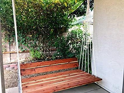 AD Planet Wood Garden Outdoor Indoor Swing Chair Wooden Rest