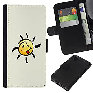 Leather Etui en cuir || LG Nexus 5 D820 D821 || Feliz Smiley Lengua @XPTECH