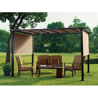 Charmant This Gazebo Boasts An 8u0027x10u0027 Size And Features A Fully Retractable Roof  That Allows You To Customize Your Outdoor Living Space Based On Current And  Changing ...