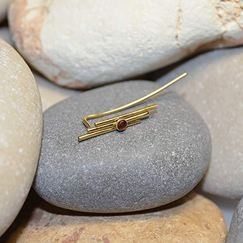 ring // Ear Pins - Ear Sweep - Ear Crawler - Garnet Ear Cuff - Ear Wrap Earring - Minimalist Earrings ()