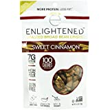 Enlightened Plant Protein Gluten Free Roasted Broad (Fava) Bean Snack, Sweet Cinnamon, 4.5 oz. (Pack of 12)