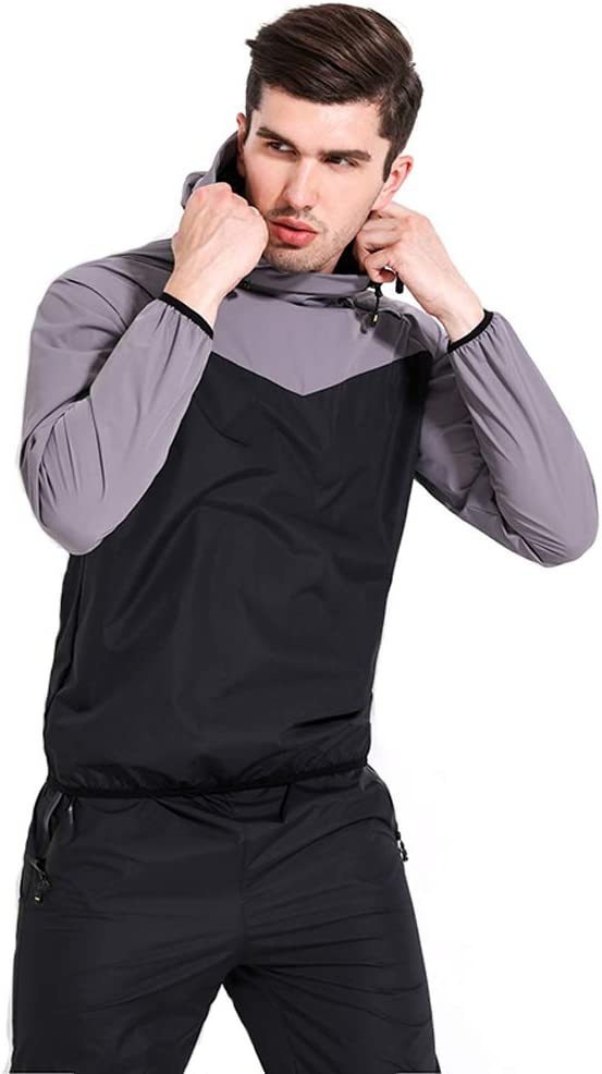 Lazysuit Sauna Suit Men Exercise Fitness Sweat Suit Weight Loss Workout