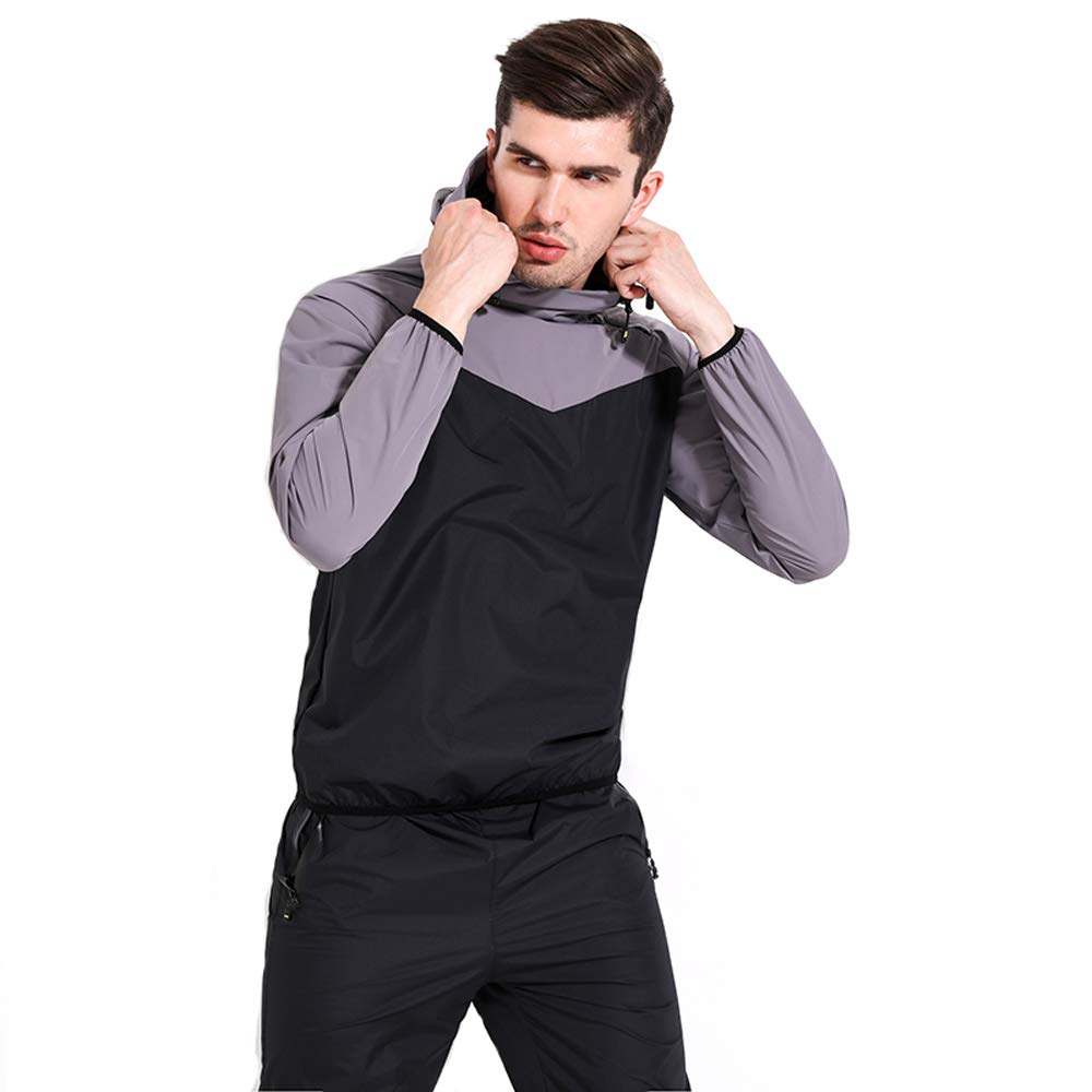 Lazysuit Sauna Suit Men Exercise Fitness Suit Workout (Gray, Small)