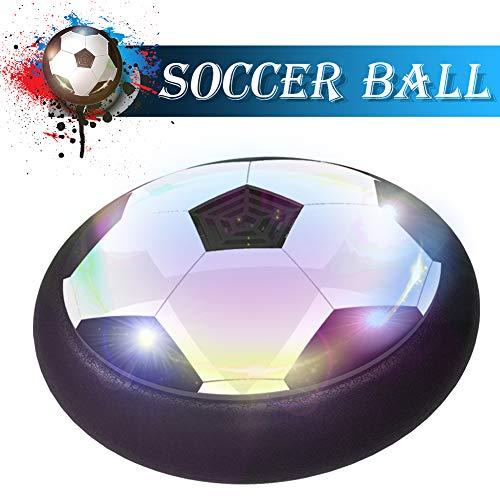 (Toyk Boy Toys - LED Hover Soccer Ball - Air Power Training Ball Playing Football Game - Soccer Toys 3 4 5 6 7 8-12 Year Old Kids Toys Best Gift)