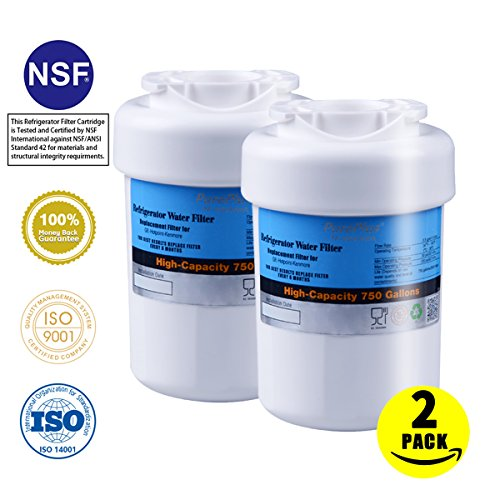 Pureplus Mwf Water Filter For Refrigerator Replacement For Ge Mwf Gwf Gwfa Gwf01 Gwf06 Mwfa Hwf Kenmore 46 9991 469991 9991 2Pack