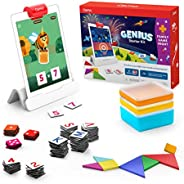 Osmo - Genius Starter Kit for iPad + Family Game Night - 7 Hands-On Learning Games for Spelling, Math & Mo