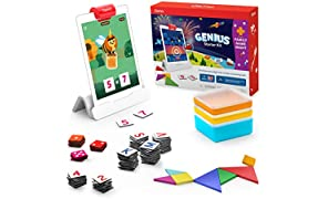 Osmo - Genius Starter Kit for iPad + Family Game Night - 7 Educational Learning Games for Spelling, Math & More - Ages 6-10 - STEM Toy iPad Base Included - Amazon Exclusive