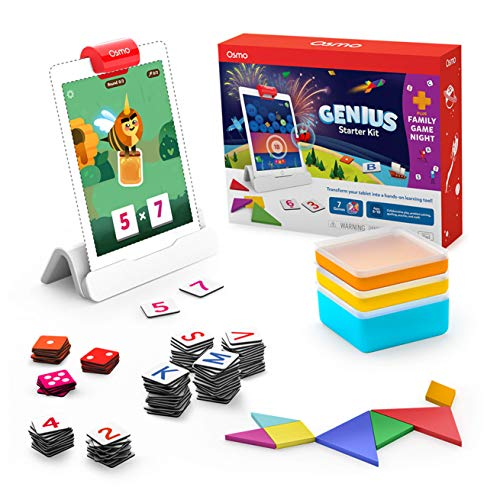 🥇 Osmo – Genius Starter Kit for iPad + Family Game Night – 7 Hands-On Learning Games for Spelling