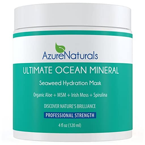 ULTIMATE Seaweed Hydration Facial Mask, 90+ powerful Ocean Minerals, Seaweed, Irish Moss, Spirulina & MSM Will Deliver a Hydration Tsunami to Repair, Rejuvenate & Nourish Your Skin!