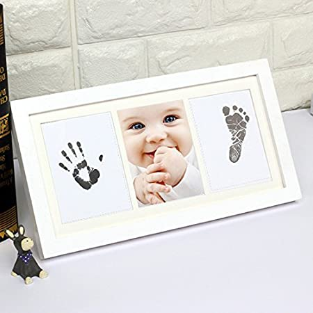 Hense Beautiful Baby Hand And Footprint Photo Frame Kit For Boys ...