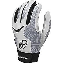 Rawlings Fast Pitch Softball Storm Series Adult Batting Gloves, Black, XL
