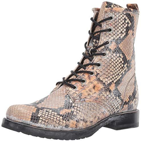 FRYE Women's Veronica Combat Boot, tan Multi, 6.5 M - Tan Boot Boots Frye