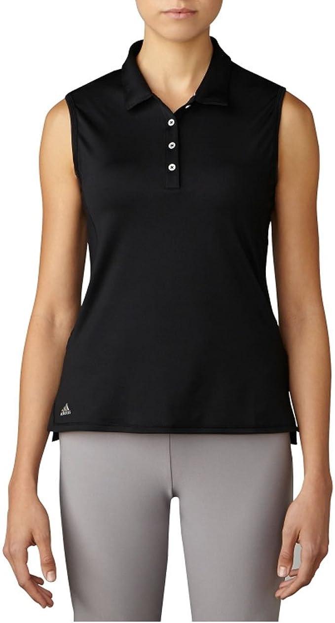 adidas Golf 3 Rayas de la Mujer UPF + 50 Polo Camiseta, Mujer ...