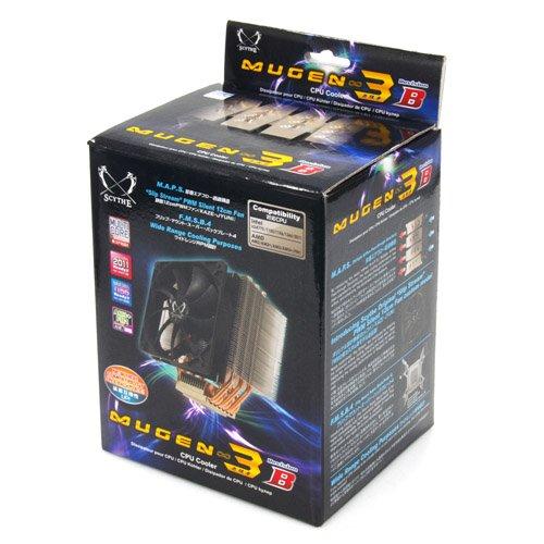 Scythe Mugen 3 Rev. B - Ventilador de PC (Enfriador, Procesador, 12 cm, Negro, Plata, 825g, 130 x 108 x 158 mm)