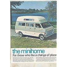 1969 Ford Econline Van Minihome Motorhome Camper RV Brochure Lorain Ohio