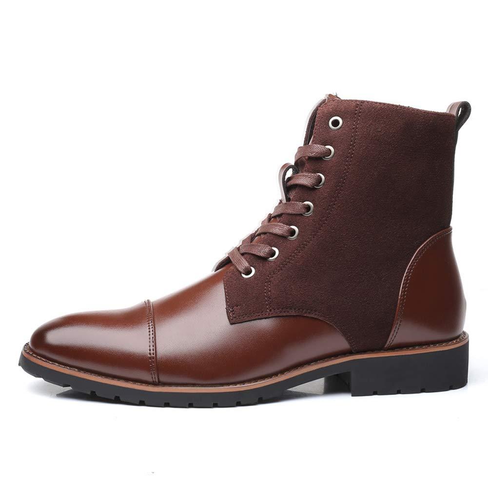 XI-GUA XI-GUA XI-GUA Männer Spitze weiche Leder hohe Stiefel warme handgemachte beiläufige Spitze Rutschfeste Verschleißschuhe B07MXB7V3W Kletterschuhe Klassischer Stil 07b6a1