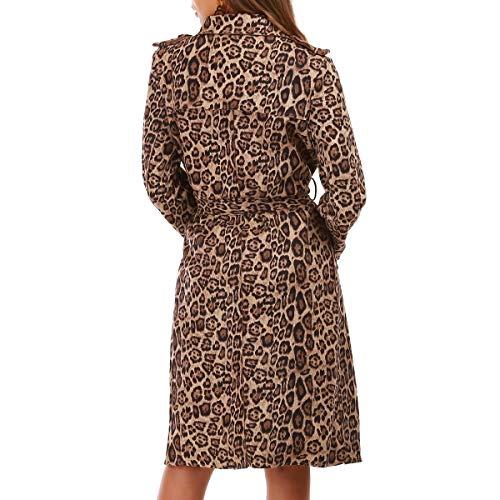 Modeuse Para La Leopardo Abrigo Mujer anwwRg78