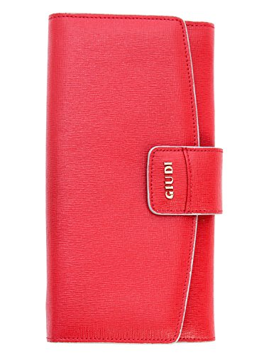 Elizabetta Women's Italian Handmade Leather Organizer Wallets Coin Purses (Corfu Red) by Elizabetta