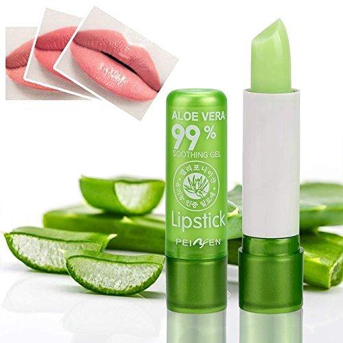 Peixen Aloe Vera 99% Soothing Gel Lipstick 3.5g. X 1 pcs. Aloe Vera Lip Balm