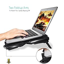 Tree New Bee Cooling Pad for 15.6 - 17-Inch Laptops with Four 120mm Fans at 1200 RPM, Black (TNB-K0025)