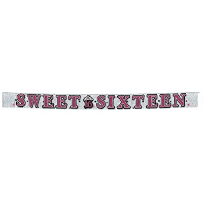 Amscan International Sweet 16 Glitter Fringe Banner: Toys & Games