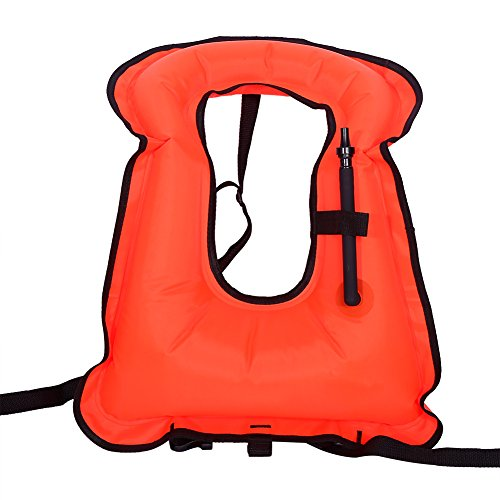 Snorkel Adult Vest,Inflatable Life Jacket Snorkeling Buoyancy Swimming Floating Vest for Adult (Red) price