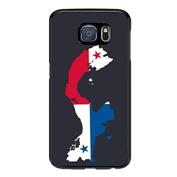 7bc791b1 Amazon.com: Samsung Galaxy S7 Edge Case Panama Map Flag Black Cool  Protective Cover: Cell Phones & Accessories